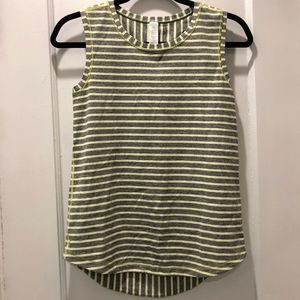 Ivivva Yellow and grey striped tank